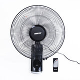 Geepas 16-Inch Table Fan 60W | 3 Speed Settings with Timer | Oscillating and Static Feature | Electric Wall Mount Cooling Fan for Home, Green House, Work Room or Office Use | 2 Year Warranty