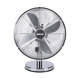 Geepas GF9610 12-Inch Metal Table Fan - 3 Speed Settings with Oscillating/Rotating and Static Feature | Electric Portable Desktop Cooling Fan for Desk Home or Office Use | 2 Year Warranty