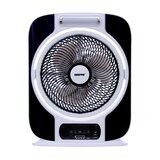 Geepas 12'' Rechargeable Box Fan - Personal Desk Fan with 16 Pcs Hi-Power SMD LED Light - Electric USB Fan for Office, Home & Travel Use (9 Speed) - 40 Hours Working (Low Speed) - 2 Year Warranty