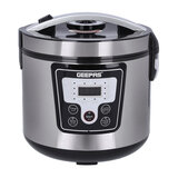 Geepas Electric Pressure Cooker - Multi-Cooker with Non-Stick Pot | Digital Display LED Screen with Touch Selection Menu | 12 One-Touch Programs | 24 Hours Timer | 2 Years Warranty