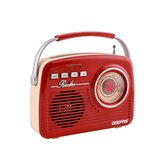 Geepas Rechargeable Radio With Bluetooth - AM FM Portable Radio Battery Operated Radio| Big Speaker, Standard Earphone Jack, Large Knob| Ideal for Indoor & Outdoor Use | 2 Years Warranty