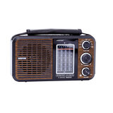 Geepas Rechargeable Radio - BT/USB/SD /MP3 Music Player | Excellent Sound Quality, Bluetooth Speaker | Lightweight Portable FM Radio, 8 Band Radio with MP3/WMA | Stylish Retro Design | 2 Year warranty