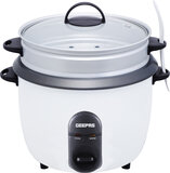 Geepas GRC35011 1.5L Rice Cooker/Steamer with Non-Stick Cooking Pot 500W - Automatic Cooking, Steam Vent Lid & Simple One Touch Operation |Make Rice, Steam Healthy Food & Vegetables | 2 Year Warranty