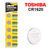 Toshiba CR1620 3V Lithium Coin Cell Battery One Pack of 5 batteries