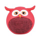 Promate True Wireless Speaker, Portable Mini Owl Bluetooth v5.0 Animal 3W Speaker with Built-In Microphone for Smartphones, Tablets, iPod - Red