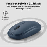 Promate Wireless Mouse, Portable 2.4Ghz Ergonomic Precision Tracking Optical Mouse with USB Nano Receiver for Laptops, iMac, PC, Desktop, Hover