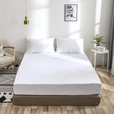 Deals For Less - 3 Pieces fitted sheet  Queen Size, Plain White Color, Bedsheet Set