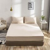 Deals For Less 3 Pieces  fitted sheet  Double Size, Beige Color, Bedsheet Set