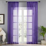Deals For Less - Window Sheer, Violet Color  Set Of 2 Pieces.