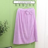 Deals For Less - Super Soft Absorbent Bathrobe With Bow Design, Purple Color