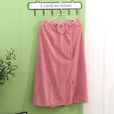 Deals For Less - Super Soft Absorbent Bathrobe With Bow Design, Old Rose Color