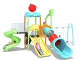 Macarons Outdoor PlayGround Swing and Slide Play sets