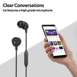 Promate In-Ear Headphones, Premium Audio Enhanced Wired Earphones with Dynamic HD Driver, Hi-Res Built-In Mic, Comfortable Earbuds and 1.2M - Black
