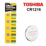 Toshiba CR1216 3V Lithium Coin Cell Battery One Pack of 5 batteries