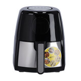 Krypton KNAF6227 1500W Digital Air Fryer 3.5L- Hot Air Circulation Technology for Oil Free Low Fat Dry Fry Cooking Healthy Food - Non-Stick Basket, Dishwasher Safe, Overheat Protection   2 Years Warranty