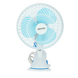 Krypton 8-Inch Table Fan - 2 Speed Settings with Oscillating/Rotating and Static Feature - Electric Portable Desktop Cooling Fan for Desk Home or Office Use