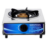 Krypton KNGC6044 Single Gas Burner for Flexible Precise Table Top Cooking - Cast Iron Heating Plate - Portable Hob with Temperature Control for Home, Camping & Caravan Cooking