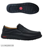 Red Wood Genuine Leather Shoes for Men LS19020033B - Black
