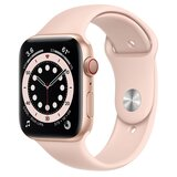Apple Watch Series 6 (GPS + Cellular) Gold Aluminium Case with Pink Sand Sport Band