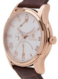 Geneval of Switzerland Men's White Dial Leather Band Watch - GL1617RWO