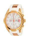 Geneval of Switzerland Men's White Dial Rubber Band Watch - GRC141RWW