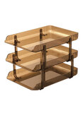 Elsoon 3-Tier Letter Tray Brown
