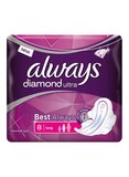 always Ultra Diamond Extra Long Pad, 8 Count