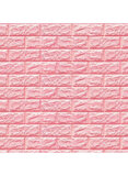Sitelongs 3D Embossed Brick Stone Wall Sticker Pink 70X77Centimeter