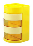 Deli Pen Stand Yellow/Beige/Clear