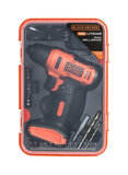 BLACK+DECKER 12V 1.5Ah 900 Rpm Cordless Drill Driver With 13 Piece Bits In Kitbox For Drilling And Fastening LD12SP-B5 Black/Orange (2 Years Warranty)