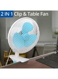 2-In-1 Clip And Table Fan 20W CYCF-889 Blue/White