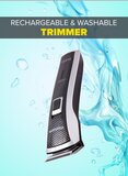 Cordless Hair Trimmer With Charging Dock BlackSilver