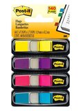 3M 140-Sheet Post It Index Flags With Dispenser Yellow/Pink/Blue