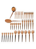 Dessini 39-Piece Stainless Steel Cutlery Set Gold