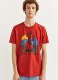Springfield Graphic T-Shirt Red