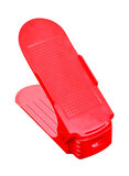 Double Layer Shoes Storage Rack Red 25centimeter