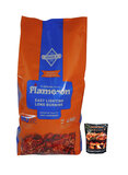 Flame-On Premium BBQ Charcoal With Instafire Briquette Charcoal Starter 4kg