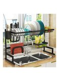 Orchid 65 CM Dish Drying Rack Over Sink Black 65cm