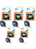 Dymo Pack Of 5 LetraTag Plastic Labels Yellow/Black