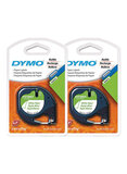 Dymo Pack Of 2 LetraTag Plastic Labels White