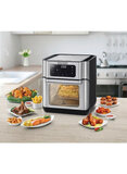 BLACK+DECKER Air Fryer Oven 12 Liter 10-in-1 Multifunction AerOfry with Rapid Air Convection Technology AOF100-B5 Silver/Grey