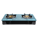 Olsenmark Double Burner Gas Stove - Auto Ignition - Toughened Glass - Low Gas Consumption