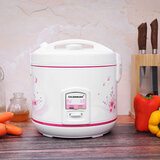 Olsenmark Rice Cooker, 2.2L | 3 In 1 - Non-Stick Cooking Pot - One-Touch Operation - Detachable Water Collector - Keep Rice Fresh, Warm - Steams Fish, Meat, Poultry & Vegetables - 900-1070W
