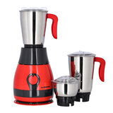 Olsenmark OMSB2319 750W 3-in-1 Mixer Grinder  - Multifunctional Grinder with Stainless Steel Jars & Blades  - 3  Speed with Whip, Safety Twist Lock | Perfect for Dry Wet Fine Grinding | 2 Years Warranty