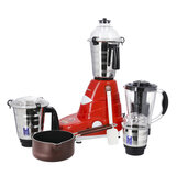 Olsenmark 5 In 1 Mixer Grinder with Non Stick Saucepan - 3 Speed 4 Stainless Steel Jars with Detachable Blades | Overload Protection | Ideal for Shakes, Smoothies & More | 2 Years Warranty