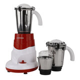 Olsenmark 550W 3 in 1 Mixer Grinder - Stainless Steel Blades, 3 Speed Control with Incher | 3Pcs Stainless Steel Jars | Over Heat Protection | Ideal for Shakes, Smoothies | 2 Years Warranty