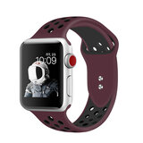 Promate Silicone Apple Watch 38mm/40mm Strap, Dual-Toned Silicone Sport Band w/Lock Pin for Apple Series 1/2/3/4 L/M/S, Nike+, Sports - Maroon/Blk
