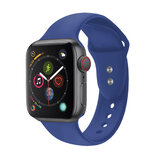 Promate Silicone Apple Watch 38mm/40mm Strap, Premium Silicone Sport Strap w/Dual Lock Pin for Apple Watch SR:1,2,3 and 4 S/M Size- Outdoor-Blu