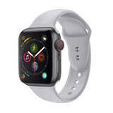 Promate Silicone Apple Watch 38mm/40mm Strap, Adjustable Silicone Sport Strap w/Dual Lock Pin for Apple Watch SR:1,2,3 and 4 S/M Size- Outdoor- Grey
