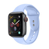 Promate Sport Silicone Apple Watch 42mm/44mm Strap, Durable Sweatproof Silicone Wrist Strap for Apple Watch Series 1,2,3 and 4 M/LSize- Light Blue